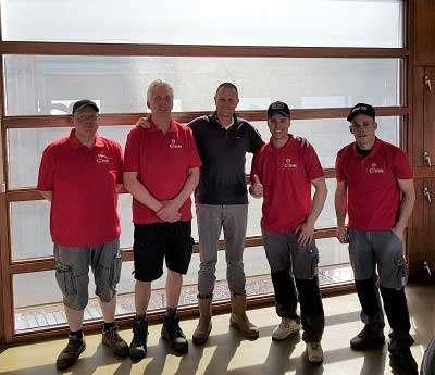 cursisten van de cursus (hulp) monteur goederenbouwlift van de VSB - Opleidingslocatie De Jong's Liften