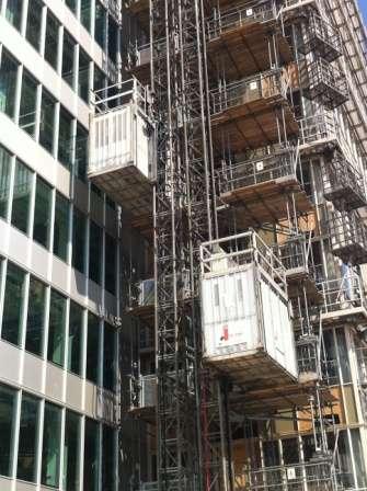 Personen-/goederenlift HP105S bij renovatieproject Amsterdam - De Jong's Liften