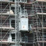 Personen-/goederenlift op bouwproject - PT1000F en HP1000F - De Jong's Liften