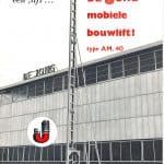 Geschiedenis - Bouwlift AM 40 van De Jong's Liften